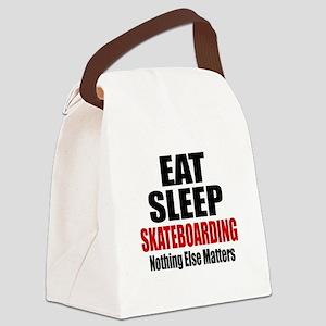Eat Sleep Skateboarding Canvas Lunch Bag