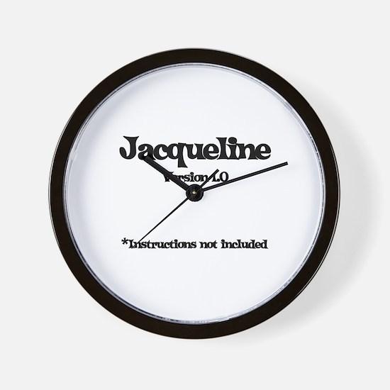 Jacqueline Version 1.0 Wall Clock