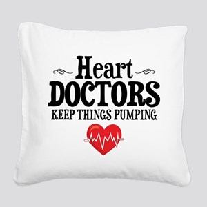Heart Doctor Square Canvas Pillow