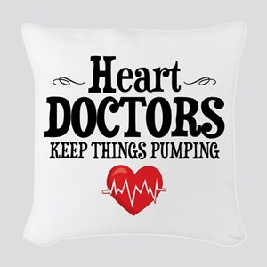 Heart Doctor Woven Throw Pillow