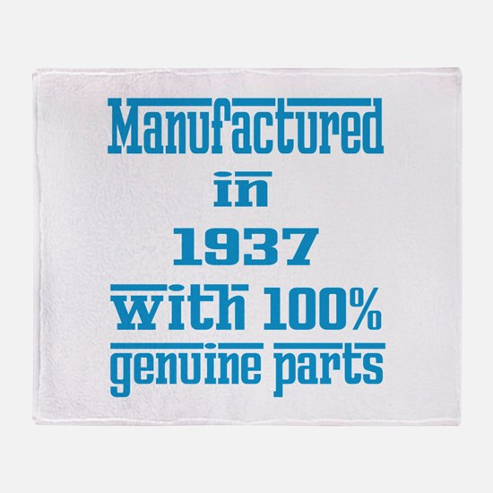 Manufactured in 1937 with 100% Genui Throw Blanket