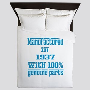 Manufactured in 1937 with 100% Genuine Queen Duvet