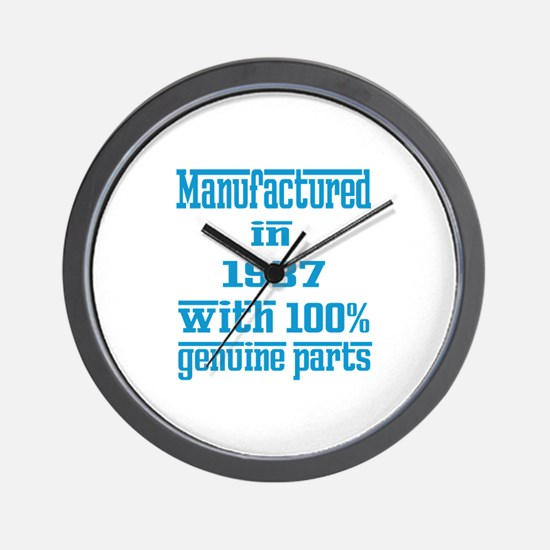 Manufactured in 1937 with 100% Genuine Wall Clock