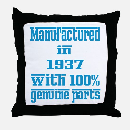 Manufactured in 1937 with 100% Genuin Throw Pillow