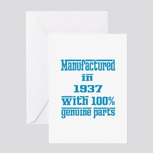 Manufactured in 1937 with 100% Genui Greeting Card