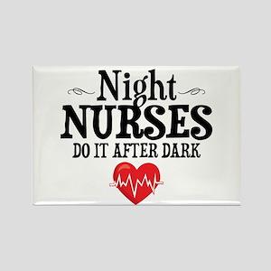 Night Nurse Rectangle Magnet
