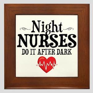 Night Nurse Framed Tile