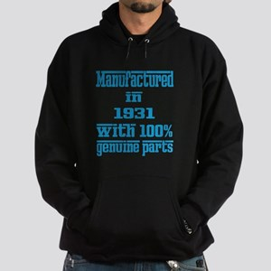 Manufactured in 1931 with 100% Genui Hoodie (dark)