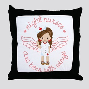 Night Nurse Throw Pillow