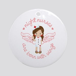 Night Nurse Round Ornament