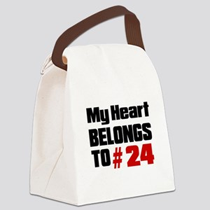 My Heart Belongs To # 24 Canvas Lunch Bag