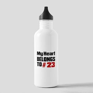 My Heart Belongs To # Stainless Water Bottle 1.0L