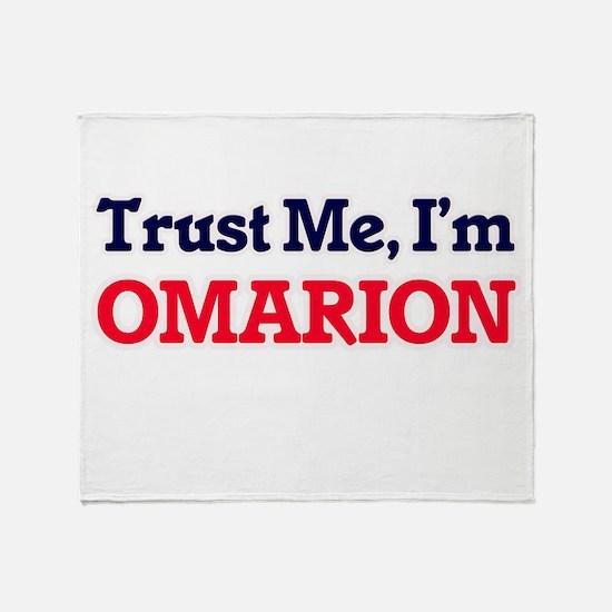 Trust Me, I'm Omarion Throw Blanket
