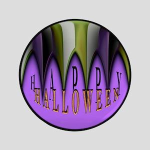 """Purple Halloween Teeth 3.5"""" Button"""