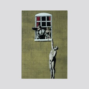 Banksy graffiti art Rectangle Magnet