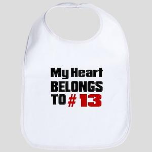 My Heart Belongs To # 13 Bib