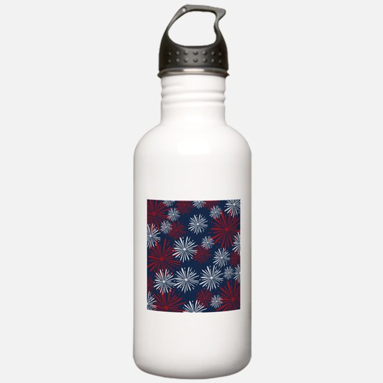 USA Fireworks Water Bottle