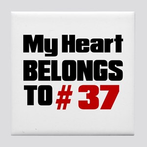 My Heart Belongs To # 37 Tile Coaster