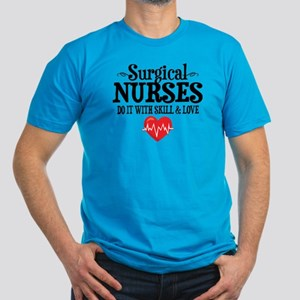 Surgical Nurse Men's Fitted T-Shirt (dark)