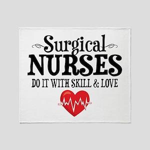 Surgical Nurse Throw Blanket