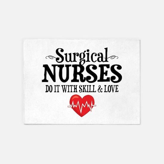 Surgical Nurse 5'x7'Area Rug