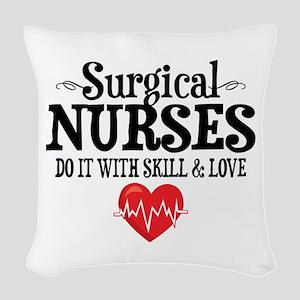Surgical Nurse Woven Throw Pillow