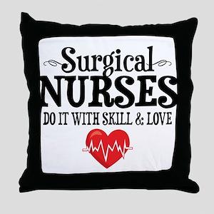 Surgical Nurse Throw Pillow