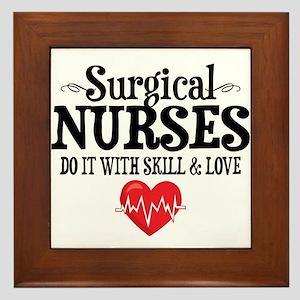 Surgical Nurse Framed Tile