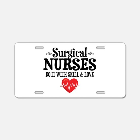 Surgical Nurse Aluminum License Plate