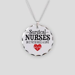 Surgical Nurse Necklace Circle Charm