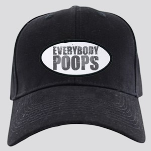 Everybody Poops Black Cap with Patch
