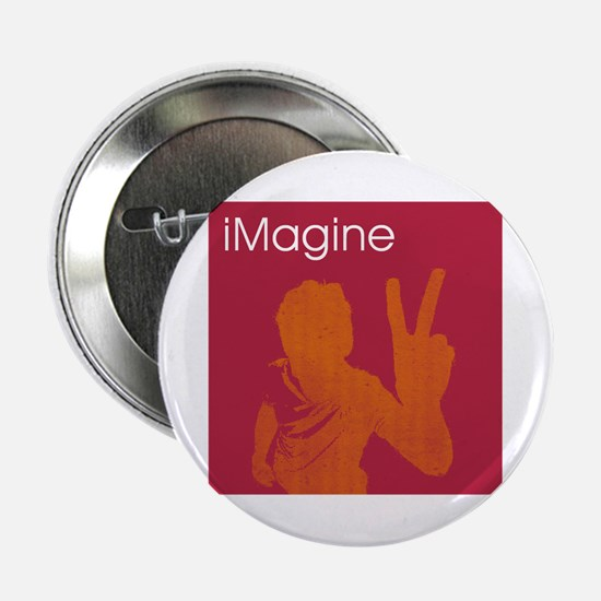 "iMagine - Peace - Siloette 2.25"" Button"
