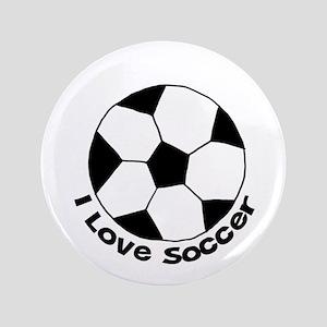 "I Love Soccer 3.5"" Button"