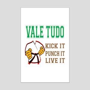Vale Tudo kick it punch it live Mini Poster Print