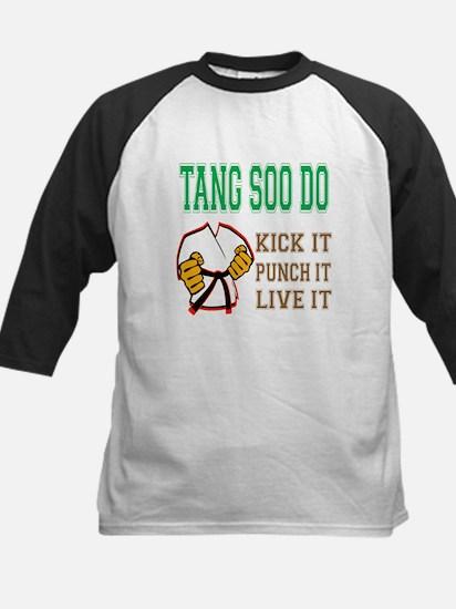 Tang Soo do kick it punch it Kids Baseball Jersey