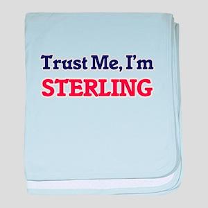Trust Me, I'm Sterling baby blanket