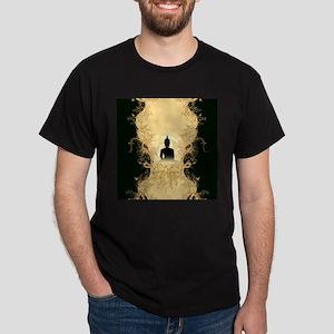 Buddha on gold black background T-Shirt