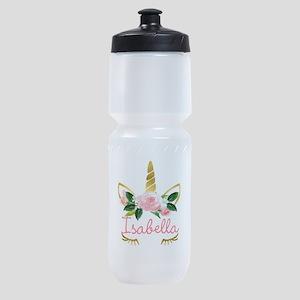 sleeping unicorn personalize Sports Bottle