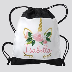sleeping unicorn personalize Drawstring Bag