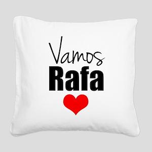 Vamos Rafa Love Square Canvas Pillow
