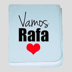 Vamos Rafa Love baby blanket