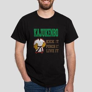 Kajukenbo kick it punch it live it Dark T-Shirt