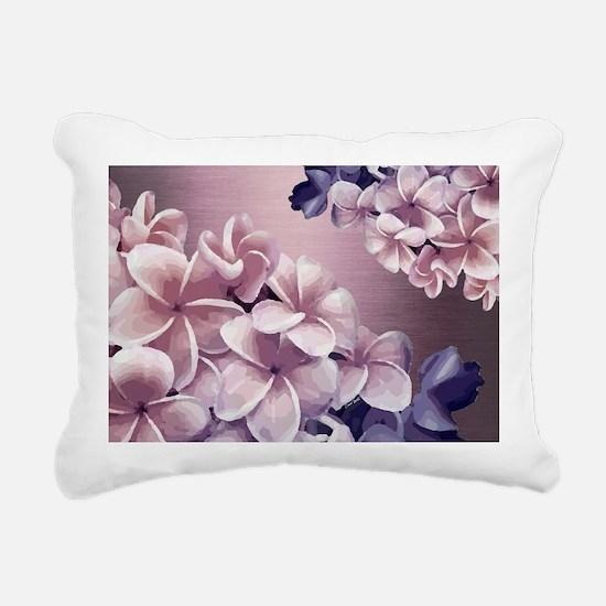 Plumeria Ombre Rectangular Canvas Pillow