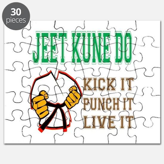 Jeet Kune Do kick it punch it live it Puzzle