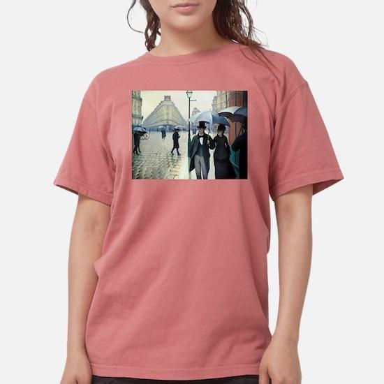 Caillebotte Paris Street Rainy Day T-Shirt