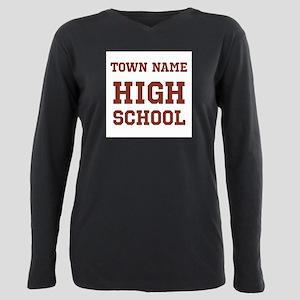 High School Plus Size Long Sleeve Tee