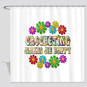 Crocheting Happy Shower Curtain