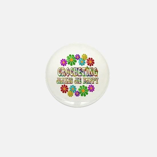 Crocheting Happy Mini Button