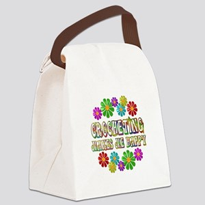 Crocheting Happy Canvas Lunch Bag