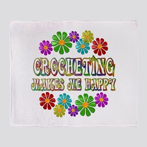 Crocheting Happy Throw Blanket
